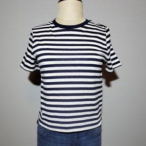 TopShop striped cropped tee 6 NWT